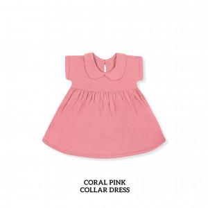 CORAL PINK Collar Dress