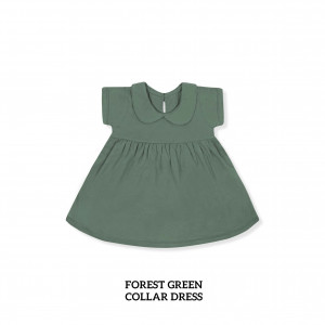 FOREST GREEN Collar Dress