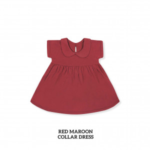 RED MAROON Collar Dress