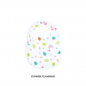 Flower Flamingo Snappy Bib