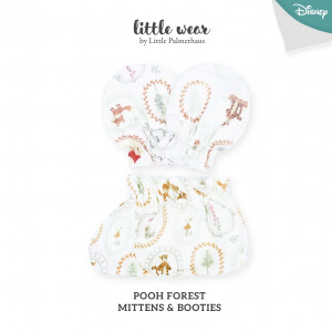 POOH FOREST Mittens & Booties