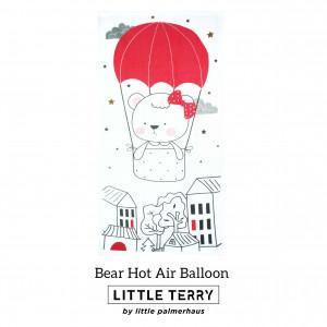 BEAR HOT AIR BALLOON LITTLE TERRY TOWEL