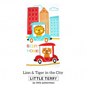 LION & TIGER IN THE CITY LITTLE TERRY TOWEL