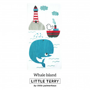 WHALE ISLAND LITTLE TERRY TOWEL