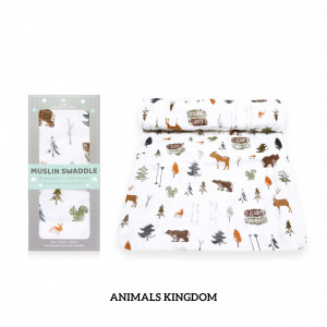 Animals Kingdom Muslin Swaddle