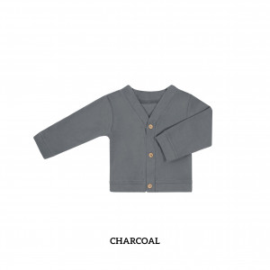 CHARCOAL Baby Cardigan