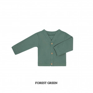 FOREST GREEN Baby Cardigan
