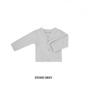 STONE GREY Baby Cardigan