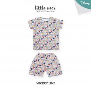 MICKEY LINE Little Wear Shoulder Button Short Sleeve