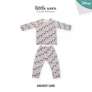 MICKEY LINE Little Wear Shoulder Button Long Sleeve