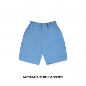 MEDIUM BLUE Kids Denim Shorts