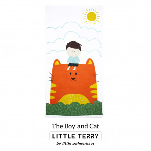 THE BOY AND CAT LITTLE TERRY TOWEL