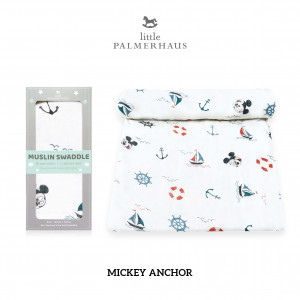 Mickey Anchor Muslin Swaddle