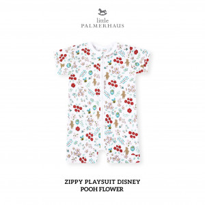 POOH FLOWER Baby Zippy Playsuit