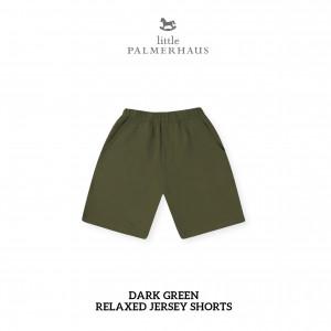 DARK GREEN Relaxed Shorts