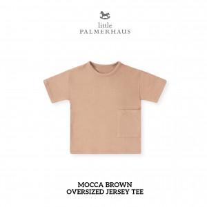 MOCCA BROWN Oversized Tee