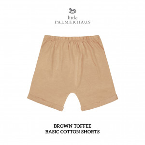 BROWN TOFFEE Basic Cotton Short