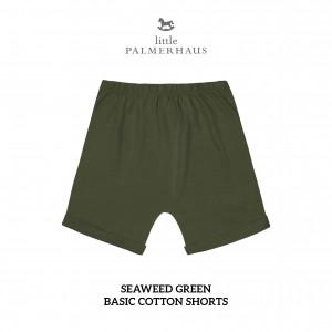 SEAWEED GREEN Basic Cotton Short