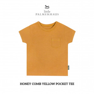 HONEY COMB YELLOW Pocket Tee
