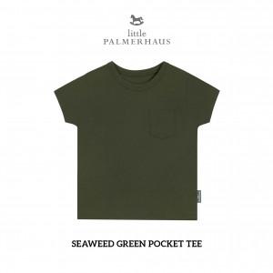 SEAWEED GREEN Pocket Tee